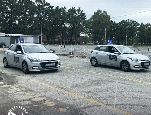 Zadania na placu manewrowym – prawo jazdy.